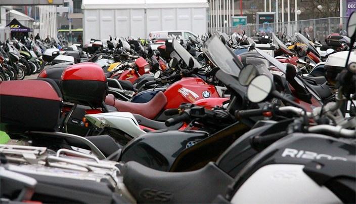 Motorparkeerplaats bij MOTORbeurs Utrecht.