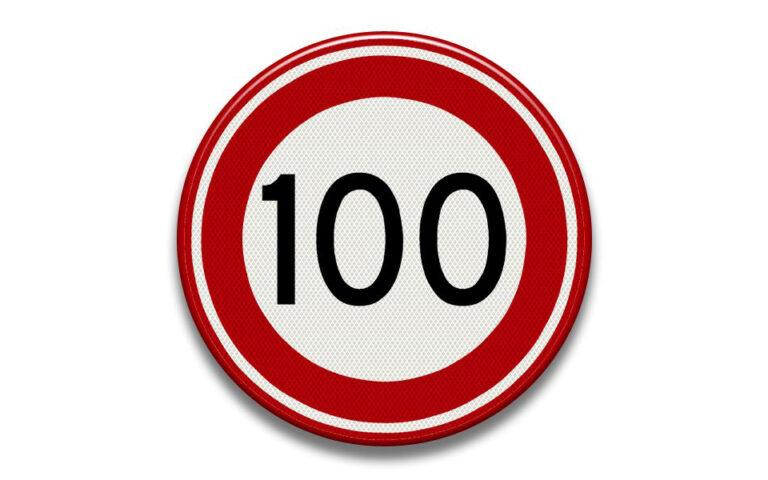 Verkeersbord 100