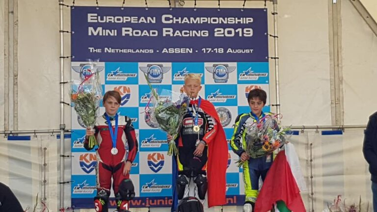 Kiyano Veijer wint EK Mini Road Racing 2019 - Junior B-klasse