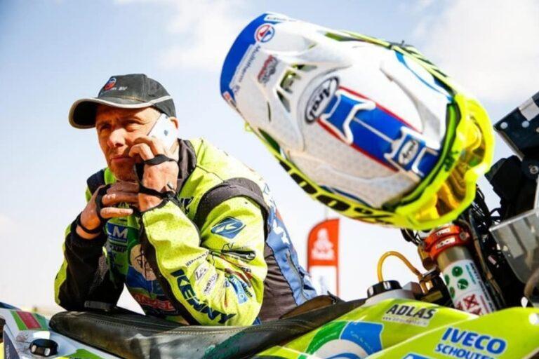 Edwin Straver tijdens de Dakar Rally 2020.
